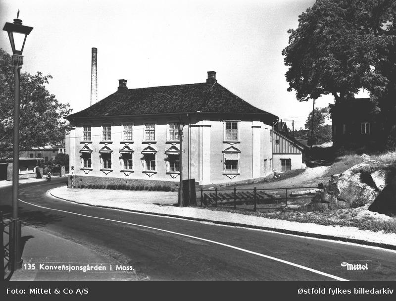 Konventionsgaarden i Moss, ca. 1910-1920. Foto: Mittet & Co A/S / Østfold fylkes billedarkiv