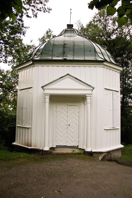 Paviljong er fra 1756. Foto: Espen Nordenhaug