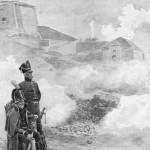 General Ohme nektet å oppgi Fredriksten til tross for hardt bombardement og diplomatisk press fra de svenske beleirerne. Ill: Andrea Bloch