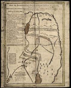 Posisjonene fra kampene på Berby. Kart tegnet av Jacob Vasbotn.