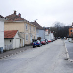 Arild Huitfeldts gate på Os i Halden. Foto: Svein Norheim