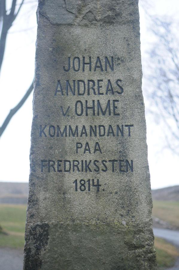 Bauta over general Ohme. Foto: Svein Norheim