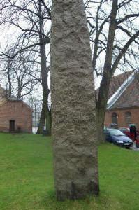 Ohmes bauta på kirkegården i Gamlebyen i Fredrikstad.  Foto: Forsvarets museer, Krigsminnesmerker i Norge