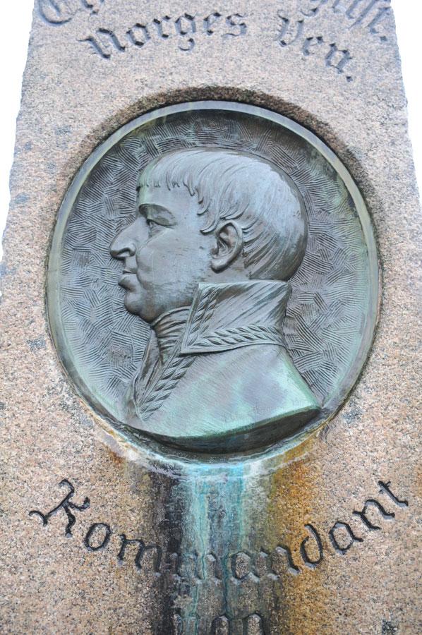 Minnesmerke over Prins Christian August – Fredriksten festning