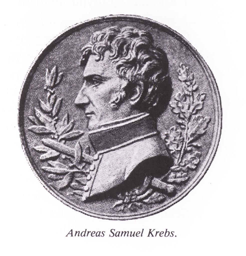 Relieff av Krebs på gravstøtten på Krist kirkegård i Oslo.