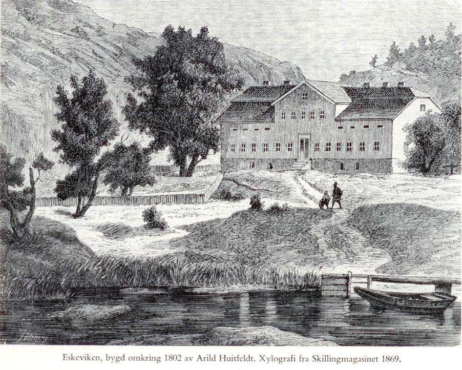 Eskeviken gård. Skillings Magazin 1869.