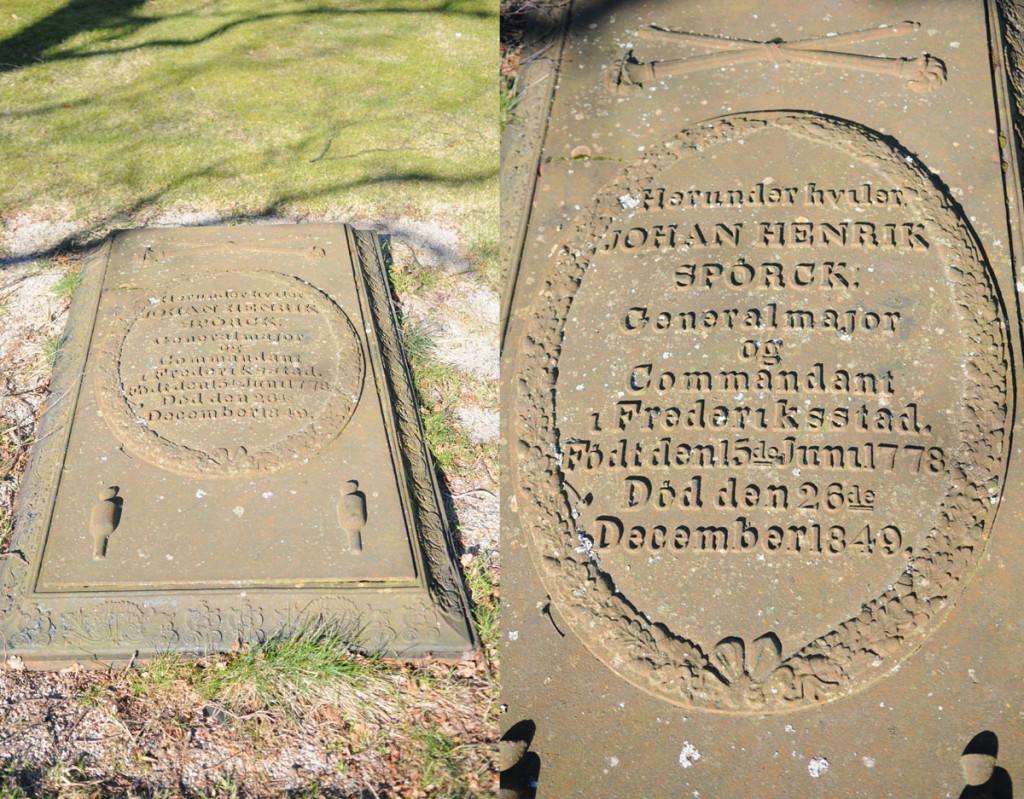Johan Henrik Spørcks gravminne på Krigskirkegården ved Kongsten fort, Fredrikstad. Foto: Svein Norheim
