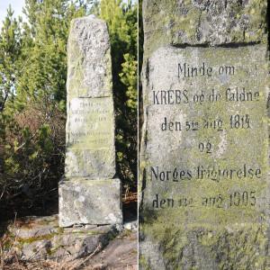 Minnesten over Krebs. Skotterud. Foto: Svein