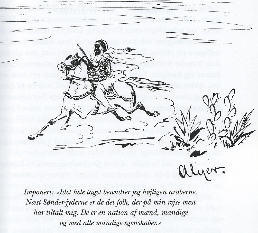 Henrik Angells egen tegning fra Algerie.