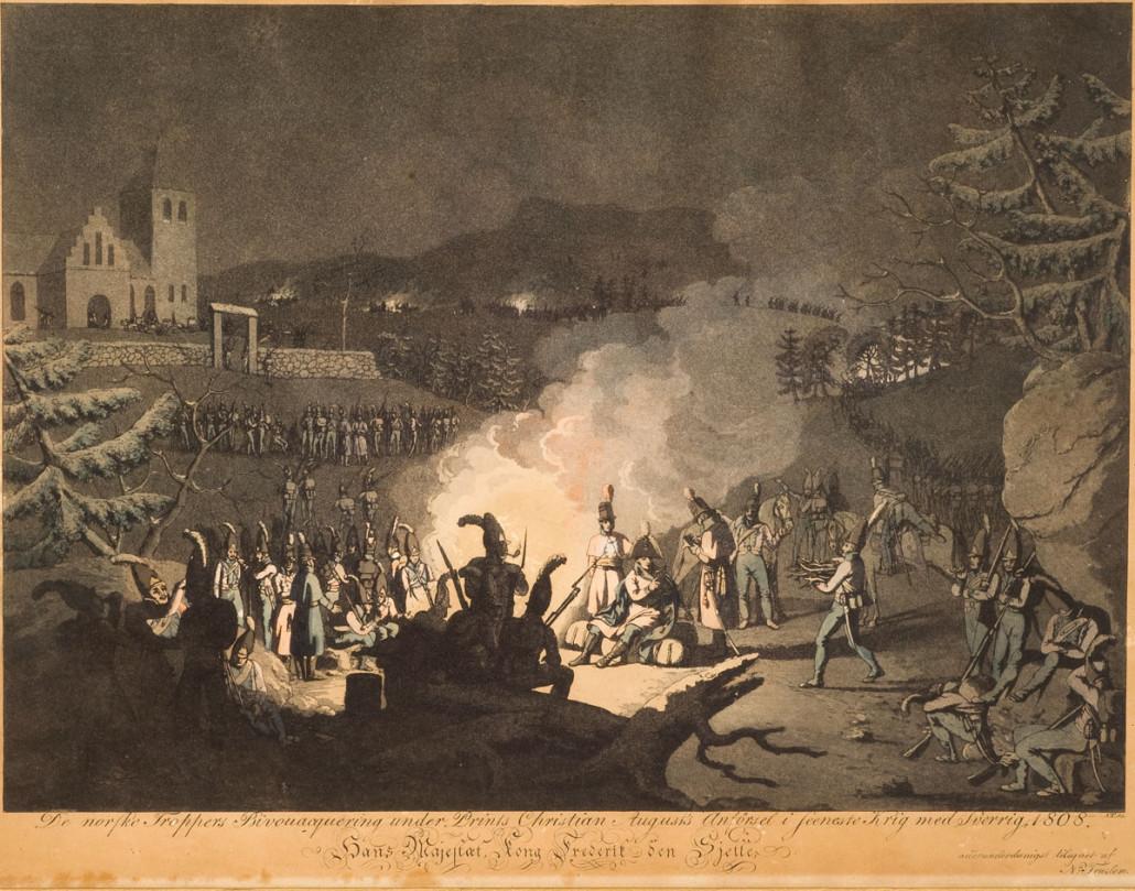 Bivuakken ved Trøgstad kirke 1808