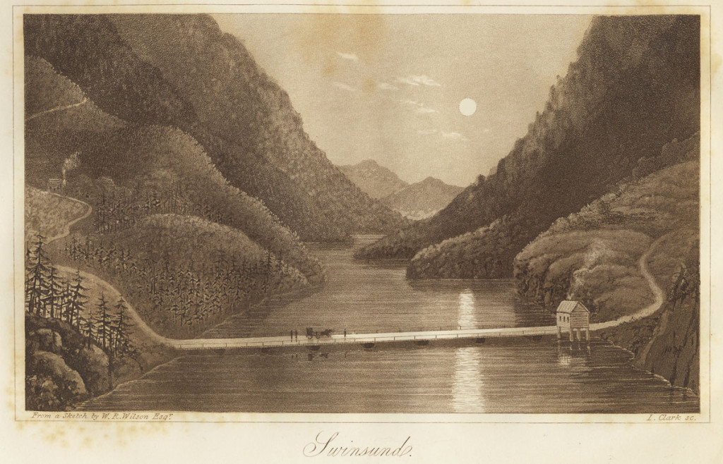 Ill.: Gravyr av I. Clarke til W.R. Wilsons reisebeskrivelse «Travels in Norway, Sweden, Denmark and …» (1826). Halden historiske Samlinger.