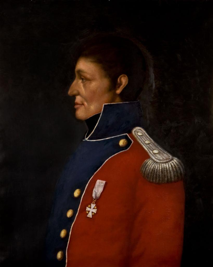 Major Arild Huitfeldt. Maleri i Haldens Minders museum/Halden historiske Samlinger