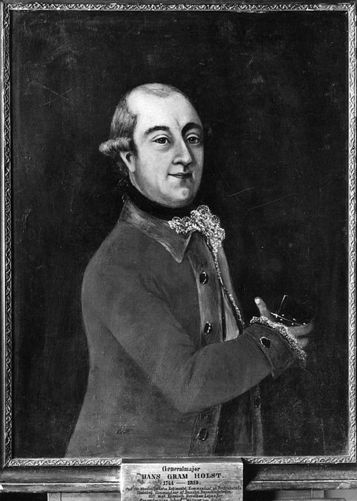 Hans Gram Holst var Johan Hübner Holsts far. Norsk portrettarkiv (Riksantikvaren).