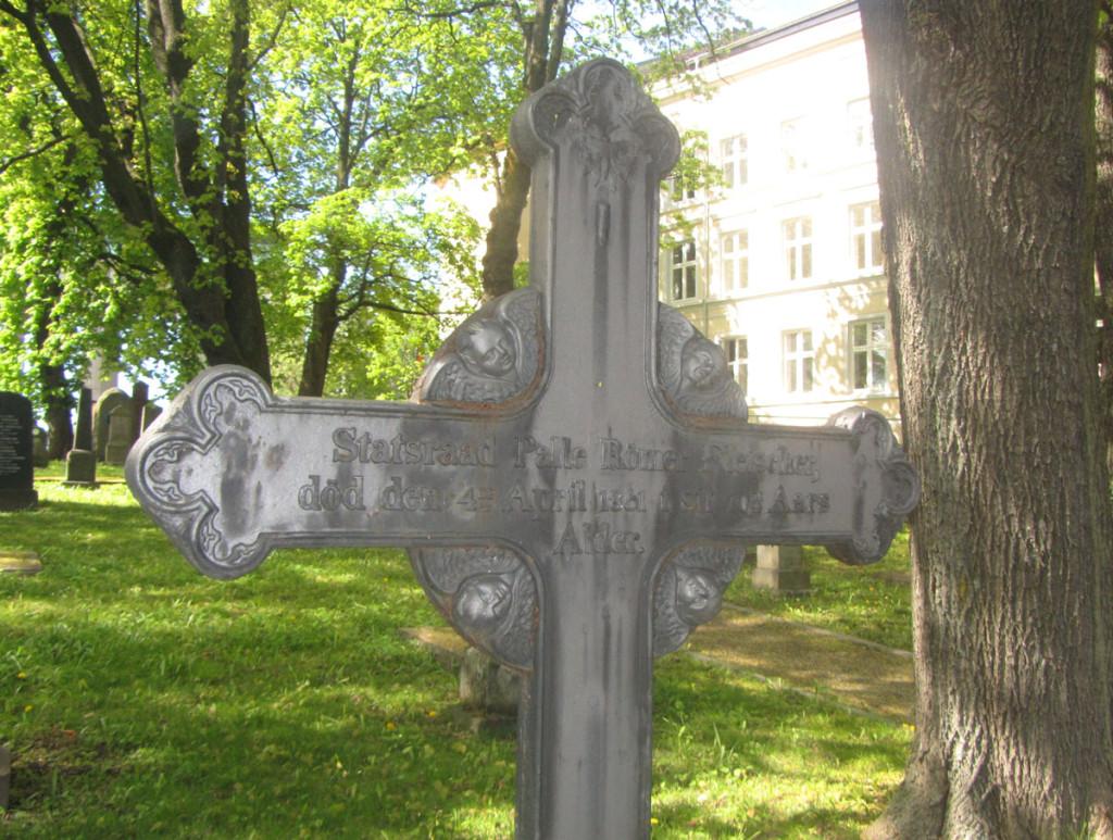Palle Fleischers gravminne på Christ krirkegården i Oslo. Foto: Wikipedia Commons. Fra DigitaltMuseum